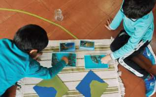 Atelier géographie en binôme